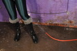 view details of set gm-2g036, PVC Mistress Felicity gives chained Friday the treatment