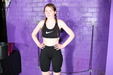 view details of set gm-2q026, Chastity gets drenched in lycra shorts and sports bra